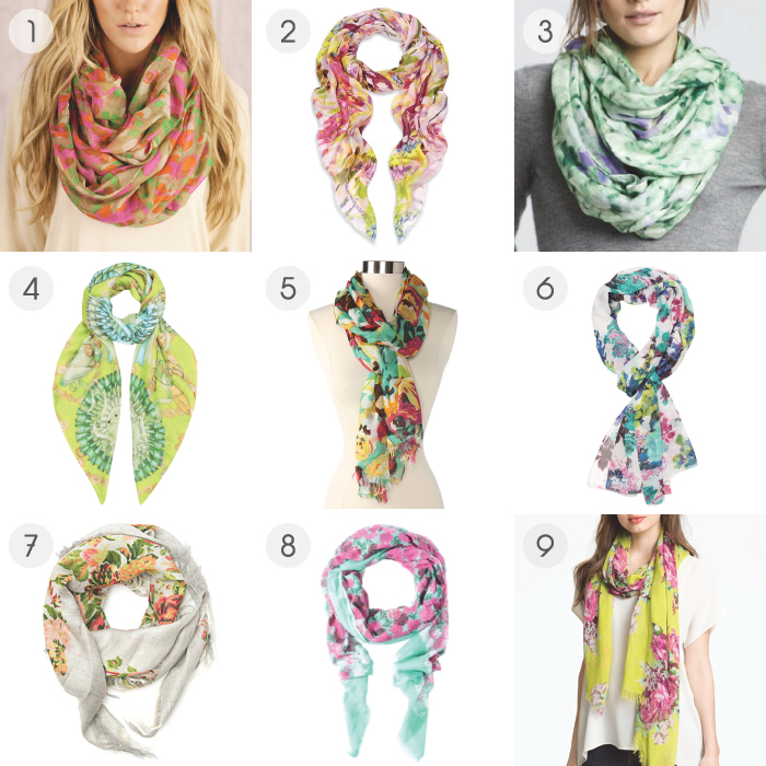 Floral Scarf - Objects Of My Affection Floral Scarves